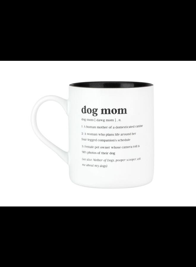 Dog Mom White Mug