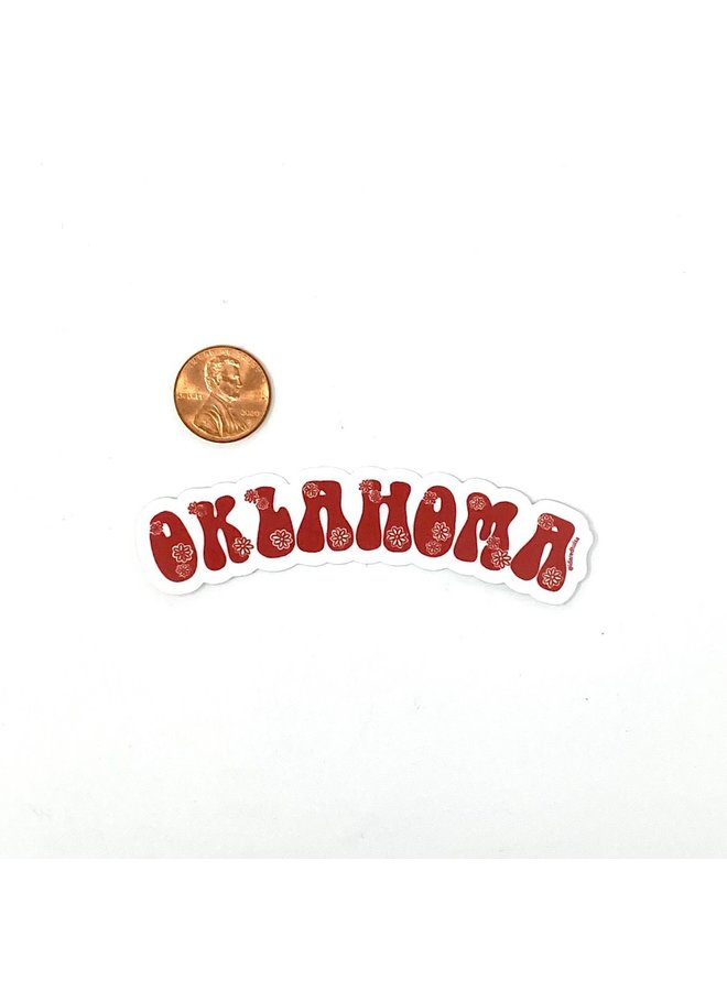 Oklahoma Flower Sticker