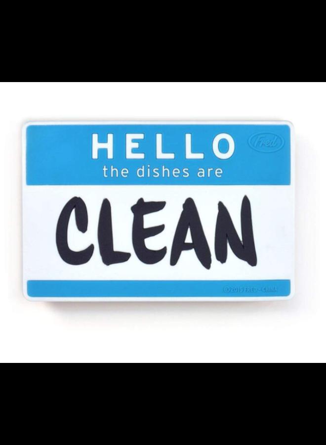 Flipside Hello Dishwasher Sign