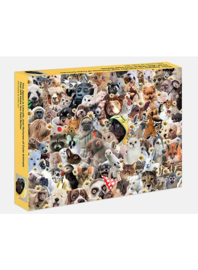 Literally Just Cute Animals Jigsaw Puzzle