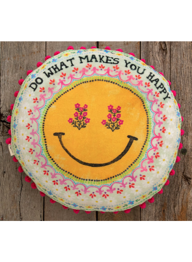 Large What Makes You Happy Pillow