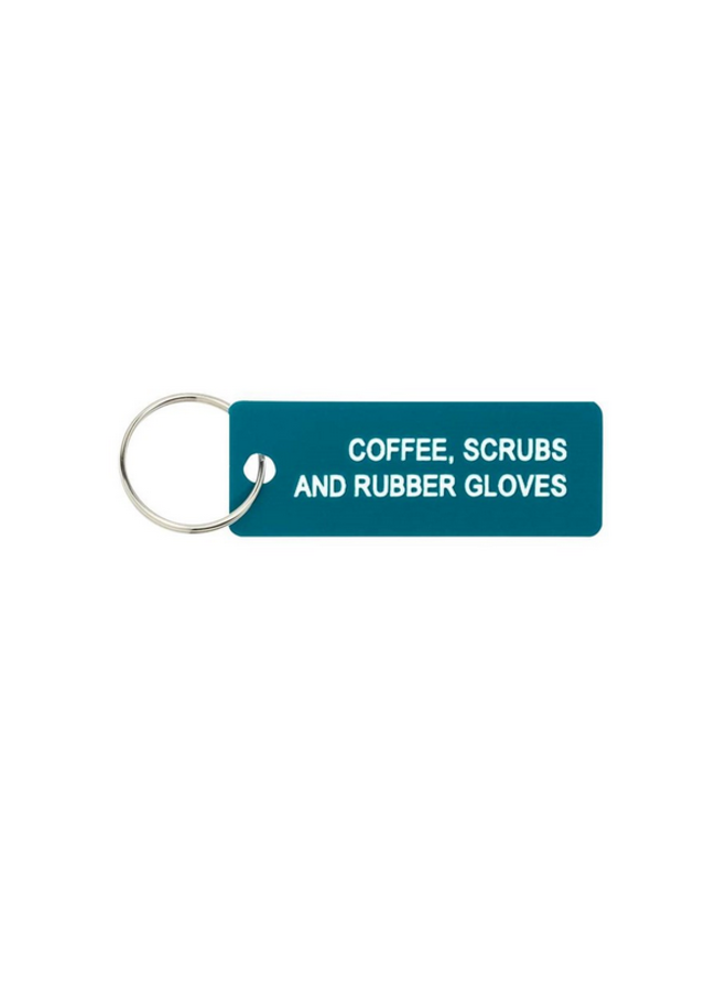 Coffee Scrubs Keychain