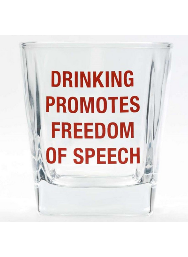 Drinking Freedom of Speech Glass