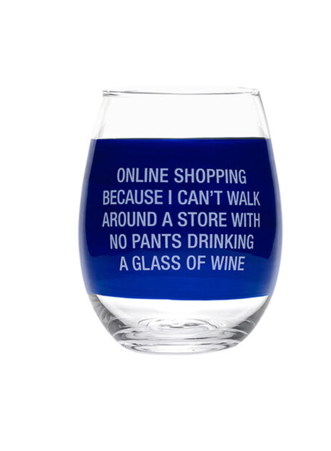 Online Shopping Wine Glass