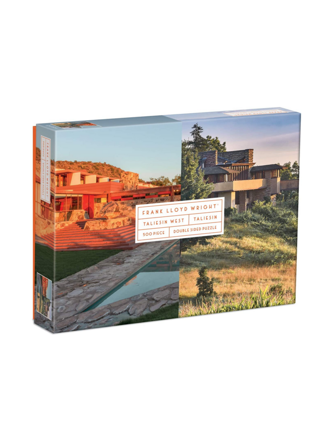 Double Sided Frank Lloyd Wright Taliesin Puzzle 500 Pc