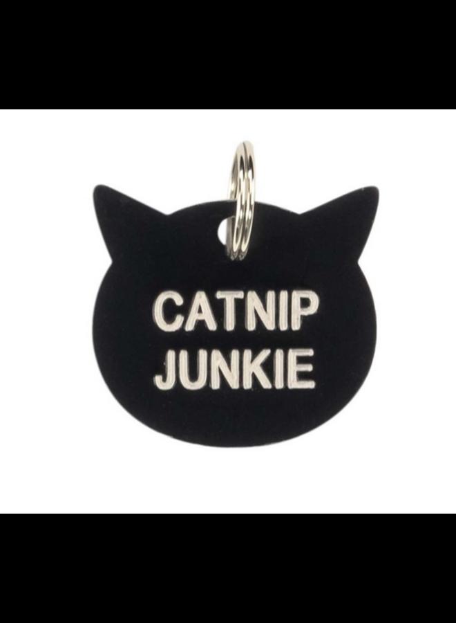 Catnip Junkie Cat Tag