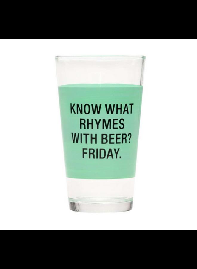 Friday Pint Glass
