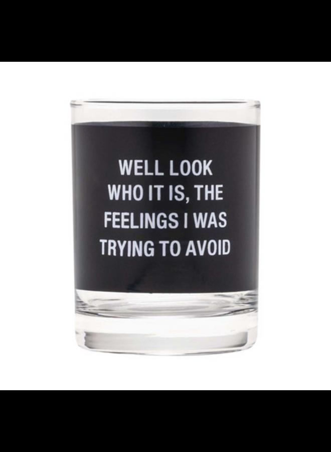 Feelings Rocks Glass