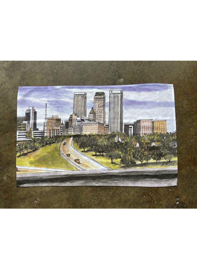 Tulsa Skyline Towel - Tulsa In Ink