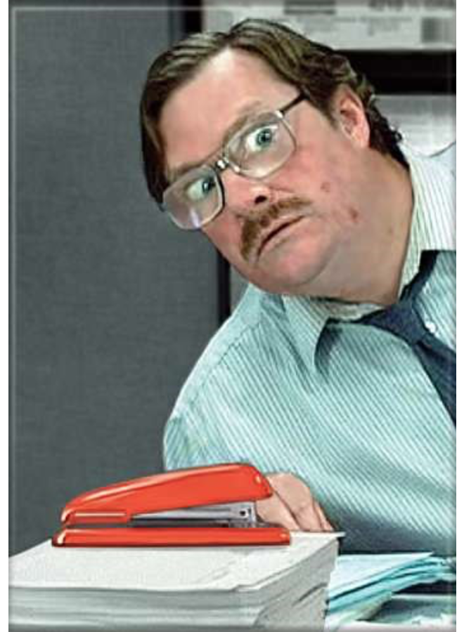 Office Space Milton And Stapler Magnet