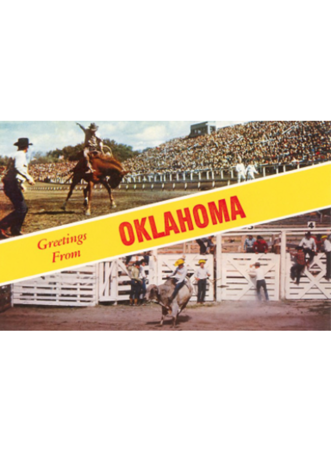 Greetings from Oklahoma Rodeo Views Magnet
