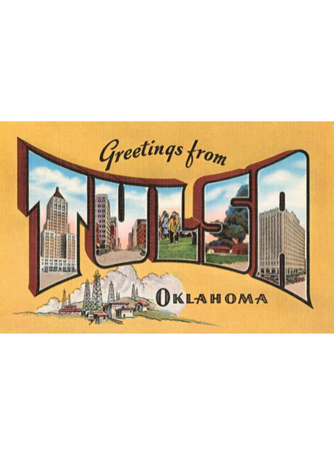 Greetings from Tulsa Magnet-Yellow