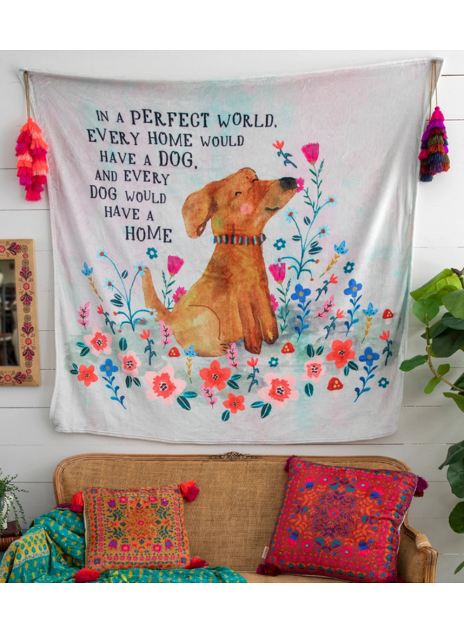 In A Perfect World Tapestry Blanket
