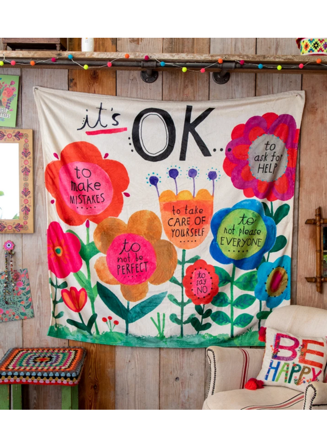 It's Okay Tapestry Blanket