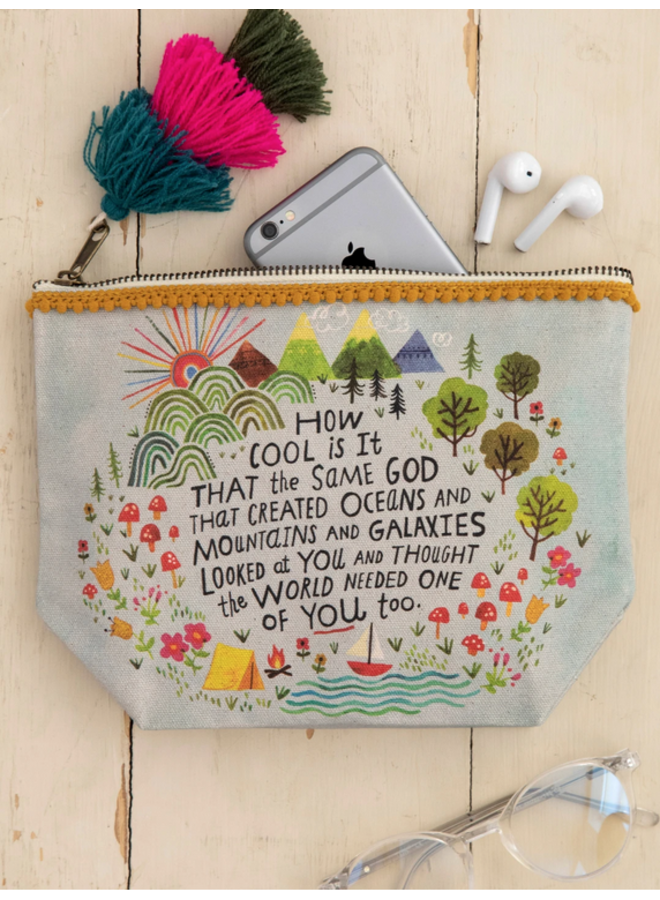 God Created You Canvas Pouch