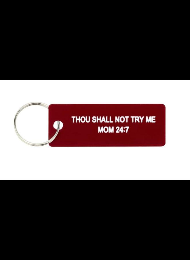 Mom 24/7 Keychain
