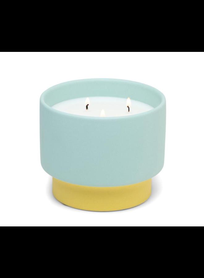 Color Block 16 oz Yellow/Mint Ceramic Minty Verde