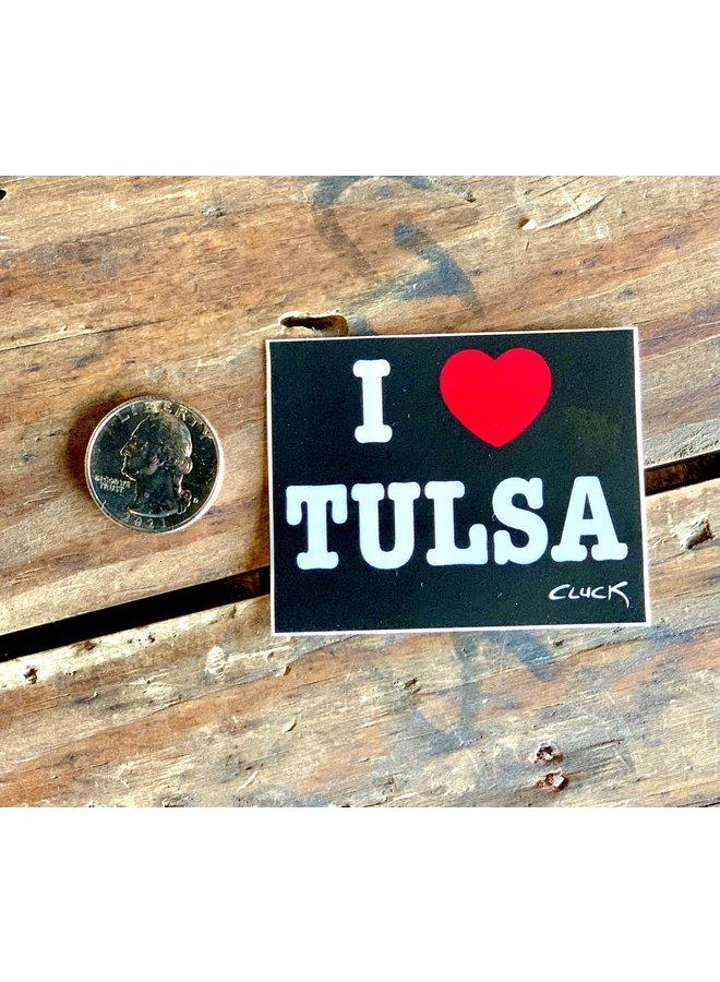 I Love Tulsa Sticker- Rectangle