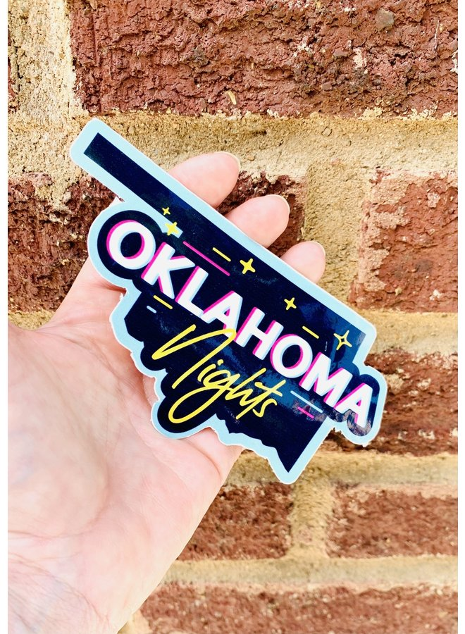 Oklahoma Nights 80s Sticker
