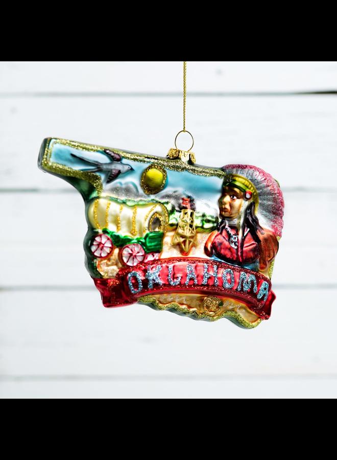 Oklahoma Glass Ornament