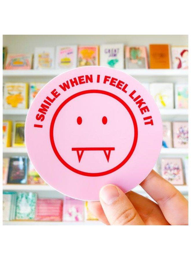 Sharp Smile Sticker