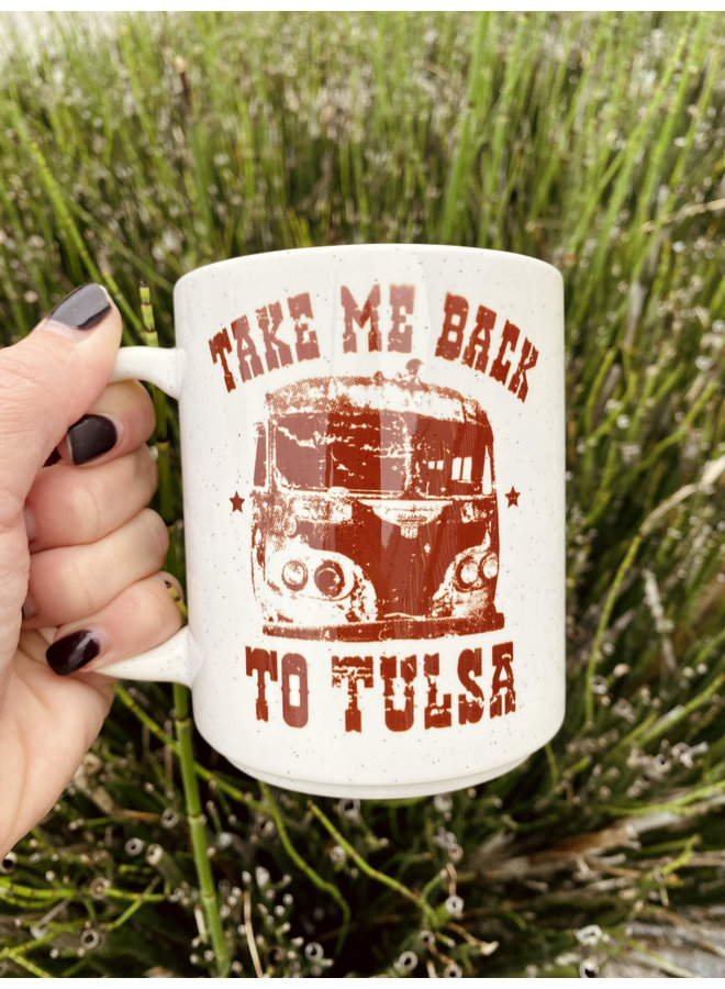 Take Me Back To Tulsa Cream Mug