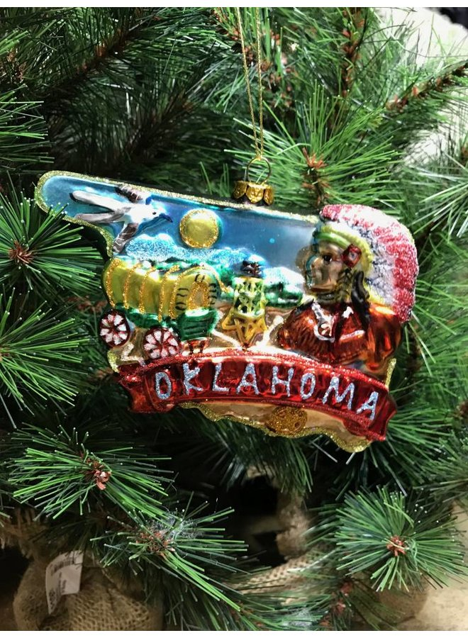 Oklahoma Glass Ornament