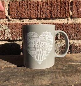 Ida Red I Heart My City Mug - Grey