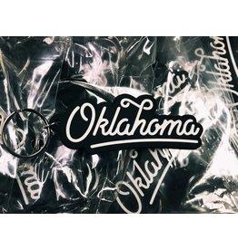 Ida Red Oklahoma Script Keychain