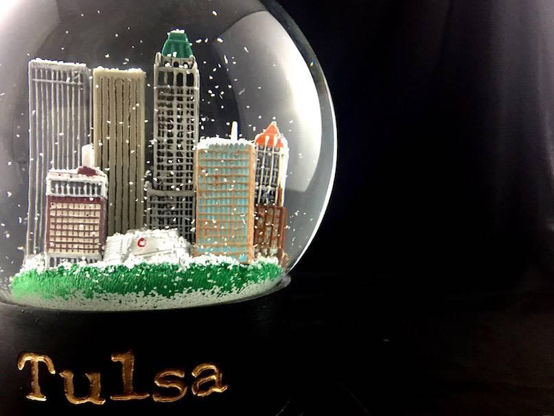 Ida Red Tulsa Snow Globe