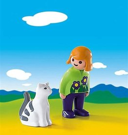 Playmobil 123 - Woman with Cat