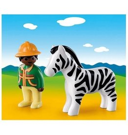 Playmobil 123 - Ranger with Zebra