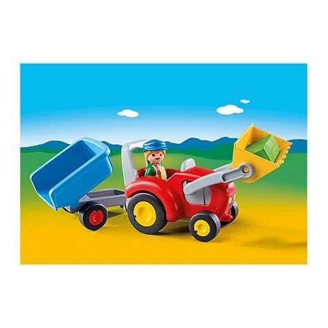 Playmobil 123 - Tractor with Trailer
