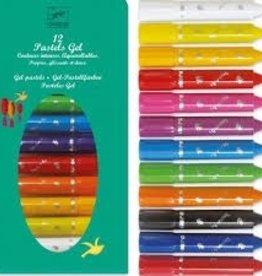 Djeco - 12 Gel Pastel Markers