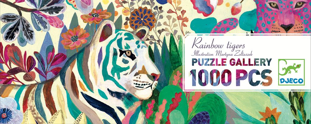 Rainbow Tigers 1000pc Puzzle by Djeco