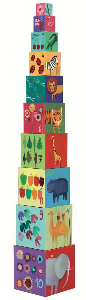 Nature & Animals Stacking Cubes by Djeco