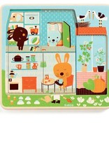 Three Layer Wooden Puzzle - Rabbit's Home