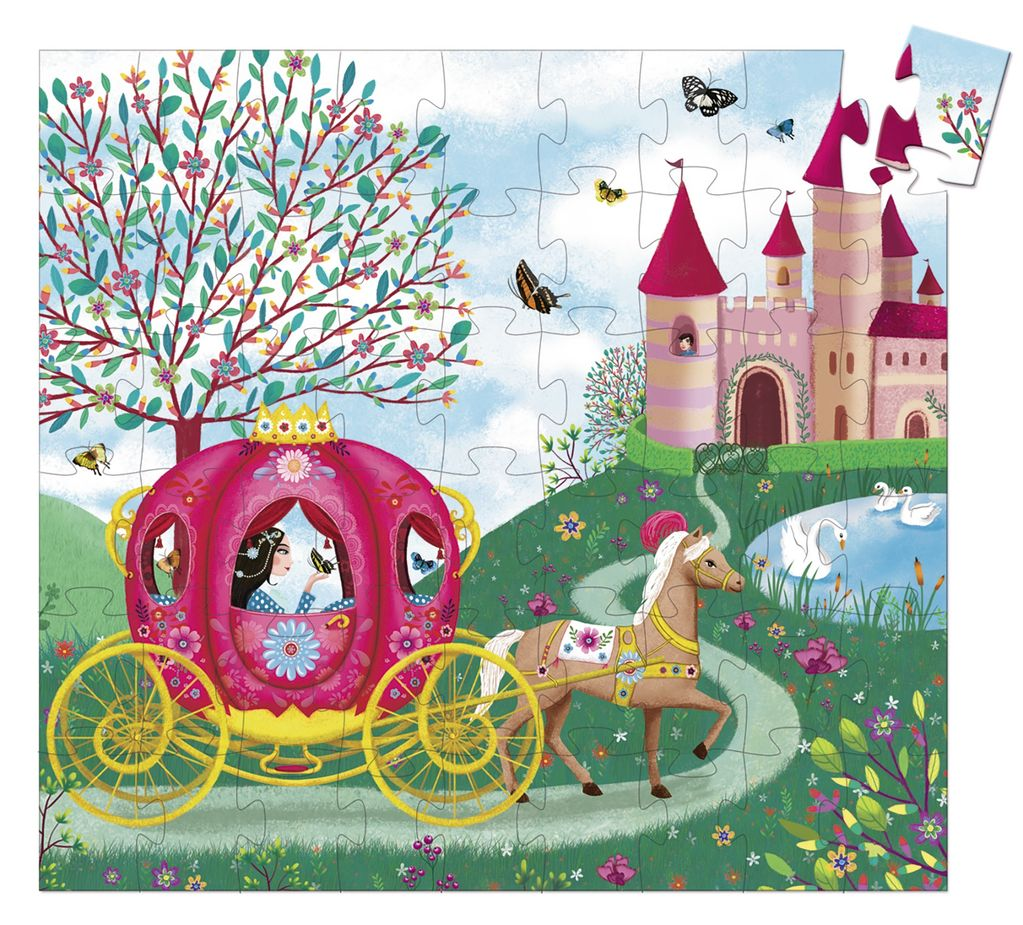 Elise's Carriage 54 pc Silhouette Puzzle