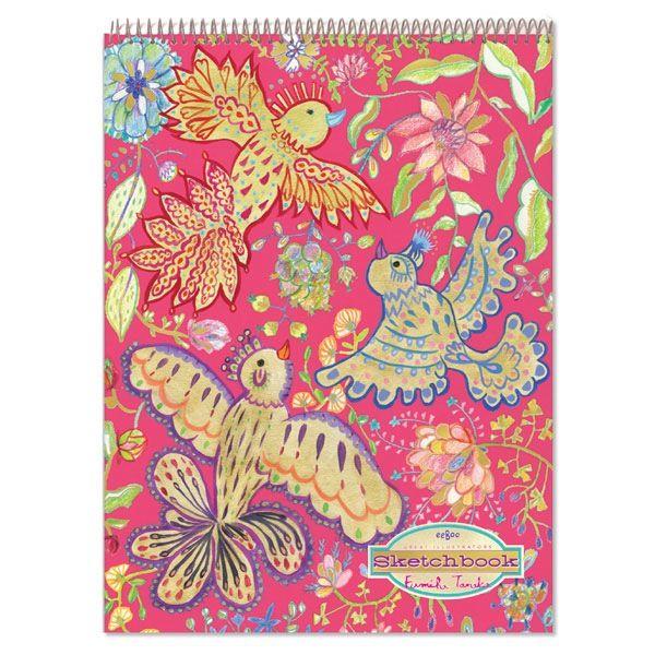 Gold Birds Sketchbook by eeBoo