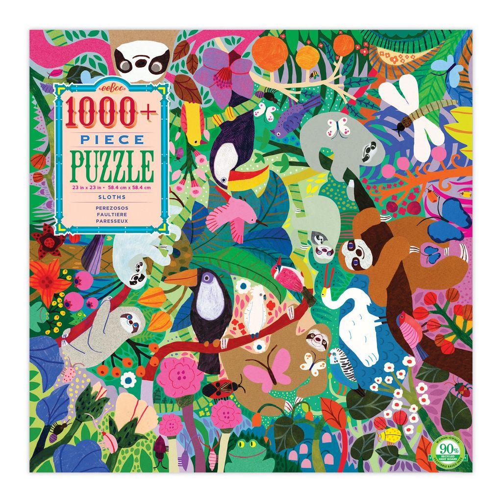 Sloths 1000 piece Jigsaw Puzzle by eeBoo