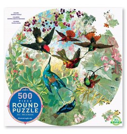 Hummingbirds 500pc Round Puzzle