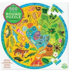 Biodiversity 500pc Round Puzzle by eeBoo