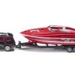 Siku Car with Motorboat
