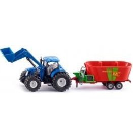 Siku New Holland with Frontloader & Strautmann Fodder Mixer