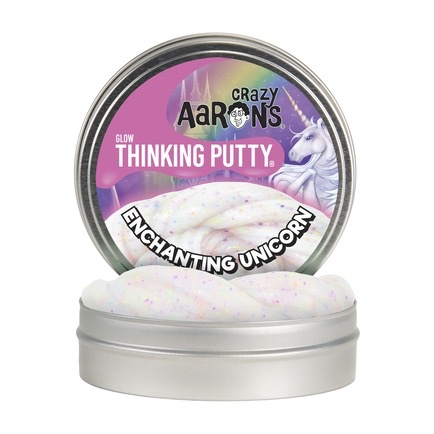 Crazy Aaron's Thinking Putty Glow in the Dark Enchanting Unicorn