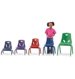 """Berries Plastic Chair 12"""" Teal"""