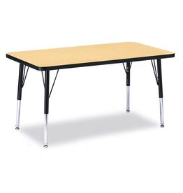 """Rectangle Table 24"""" x 36"""" Maple Top"""