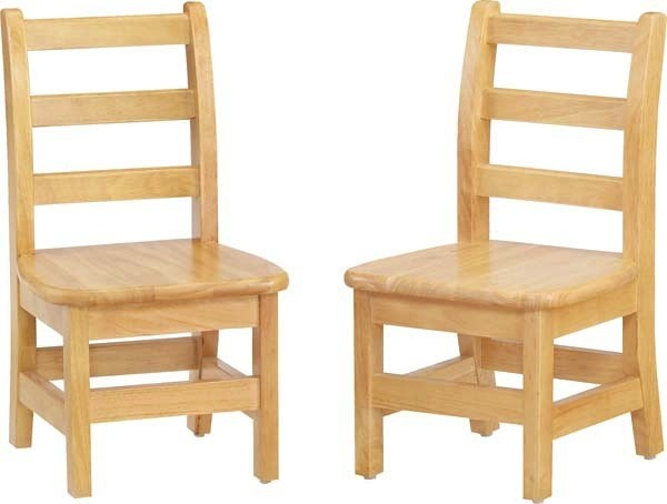 "Jonti Craft 12"" Ladderback Chair Pair"