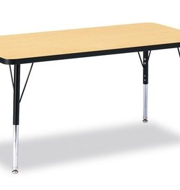 """Rectangle Table 24"""" x 48"""" Maple Top"""