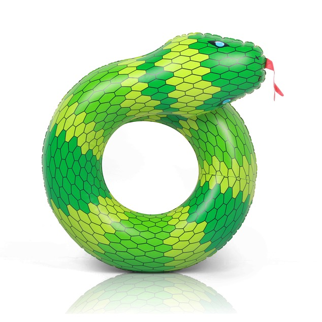 Green Snake Inflatable Coil
